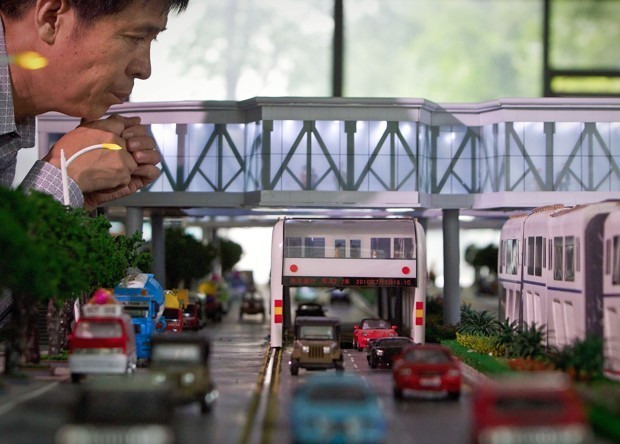 China's Straddling Bus Derails Into Controversy