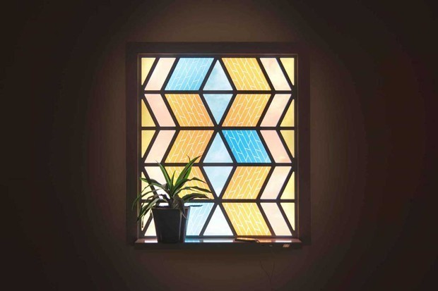 This Stained Glass Window Harnesses Solar Energy to Charge Your Devices