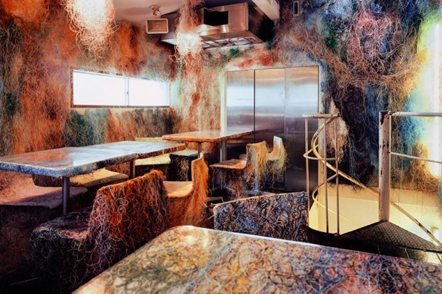 A Japanese Architect Has Turned Old Ethernet Cables Into Restaurant Decor