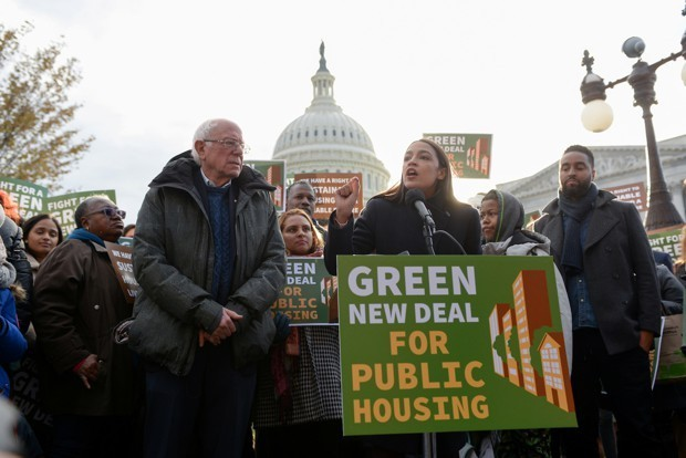Bernie Sanders and AOC Unveil a Green New Deal for Public Housing
