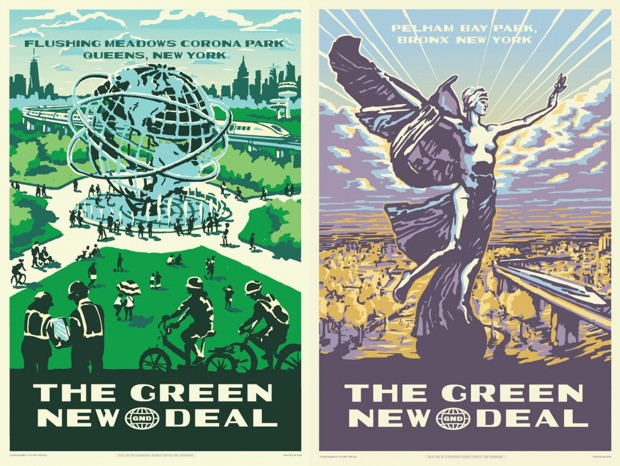 What's the Deal With AOC's Retro-Style GND Posters?
