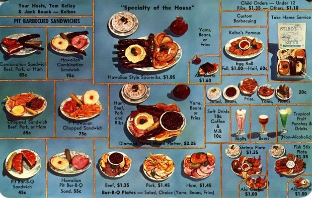 Vintage Menus Show What It's Like 'To Live and Dine in L.A.'