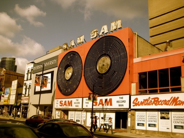 Saving Sam the Record Man's Giant Spinning Discs