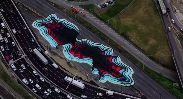 This Huge Work of Street Art Looks Like a Hole to the Center of Earth