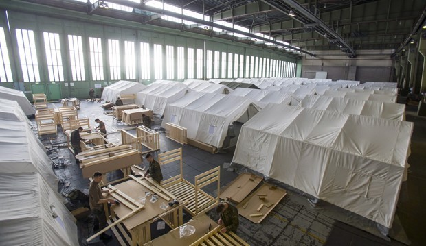 Berlin's Old Nazi Airport Is Now a Syrian Refugee Camp