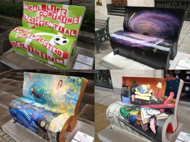 London's Book Benches Highlight the Capital's Great Literary Works