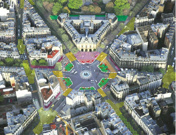 More Trees, Fewer Cars for the Central Squares of Paris