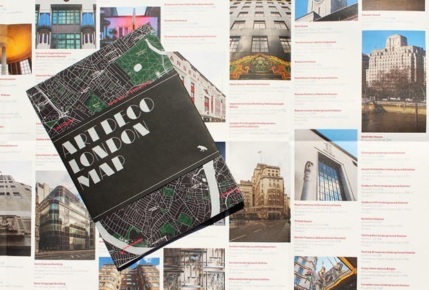 A Map for Finding London's Art Deco Buildings