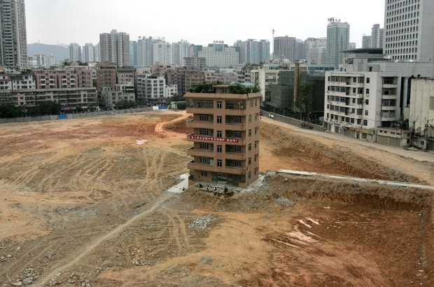 Chinese 'Nail Houses' Won't Budge for New Development