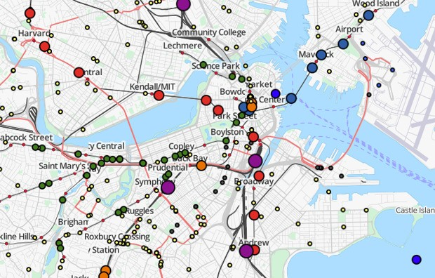 What You Can Learn Watching the Movements of an Entire Public Transportation System