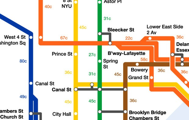 Mapping Calories Burned Walking Around New York