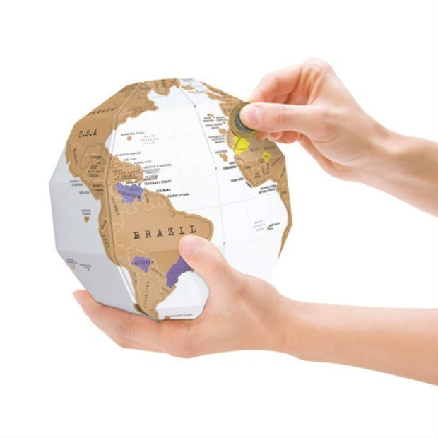 A Scratch-Off Globe to Track Your Travels