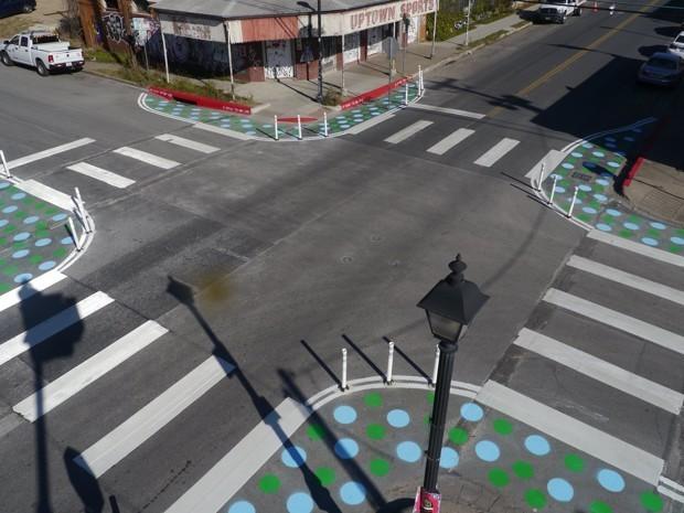 Polka Dots Help Pedestrians Reclaim Space in Austin
