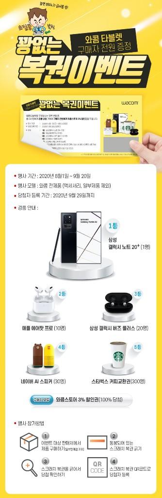 와콤, 타블렛 구매 전 고객 대상 '꽝 없는 복권 이벤트' 진행