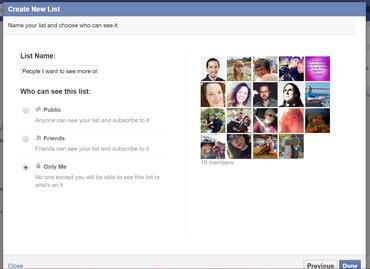Cómo ver sólo a las personas que te interesan en Facebook