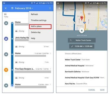 Cómo agregar lugares a tu 'timeline' de Google Maps en Android