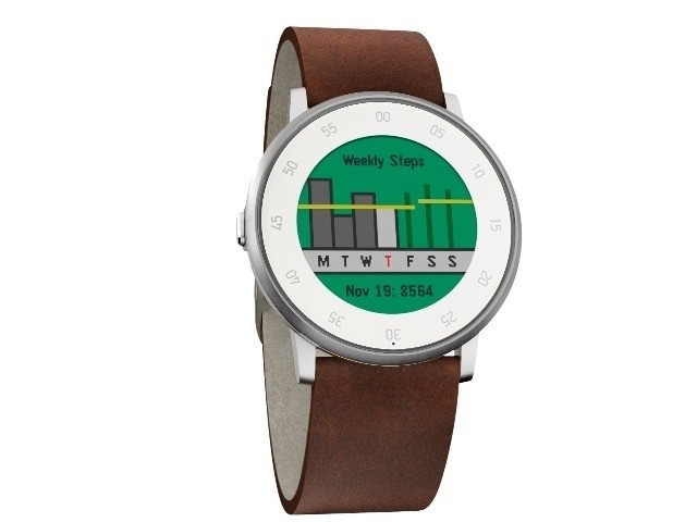 「Pebble Time」、1日のフィットネス追跡が可能に--「Pebble Health」がリリース