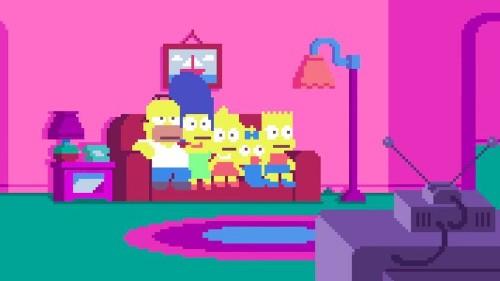 Un increíble tributo a 'Los Simpson' en versión pixelada