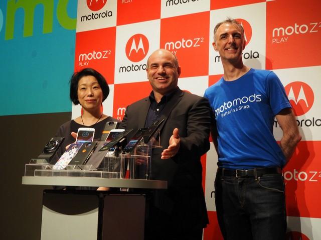 モトローラ、機能拡張できるMoto Mods対応SIMフリースマホ「Moto Z2 Play」発売へ