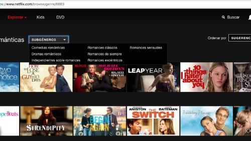 Cómo encontrar categorías específicas ocultas en Netflix