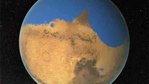 El planeta Marte tuvo un océano más grande que el Ártico
