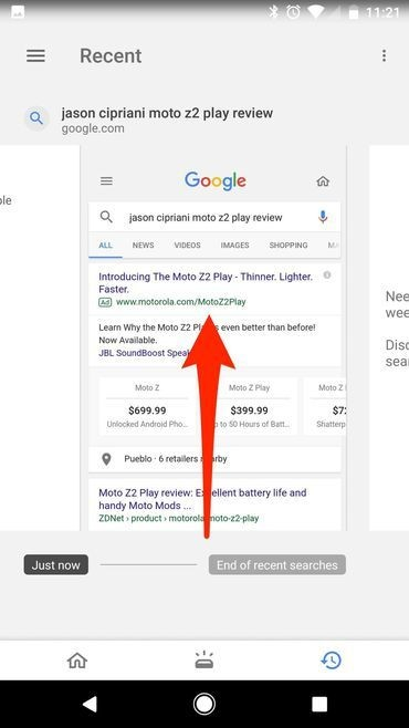 Google guarda capturas de pantalla de sus búsquedas en Android, te decimos cómo borrarlas