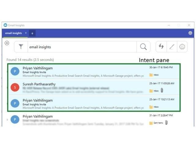 メール検索をブラウザのように便利に--MSの「Email Insights」