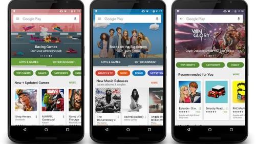 Nueva Google Play Store comienza a llegar a celulares