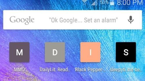 Cómo añadir marcadores de Chrome a la pantalla principal de Android