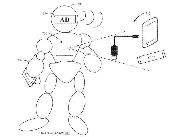 執事みたいに呼べば来て、付かず離れずな充電サービス用ロボット--アマゾンの特許