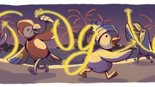 Google celebra el Año Nuevo con unos pingüinos muy divertidos