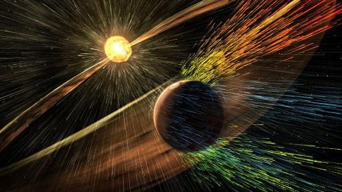 El viento solar 'sopló' la atmósfera de Marte: NASA