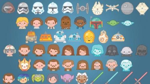 Envía mensajes de texto con emoticons de la 'Guerra de las Galaxias'.