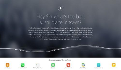 Apple lanza un sitio web para que aprendas a usar Siri