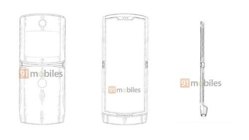 El Moto Razr flexible muestra su diseño en una patente