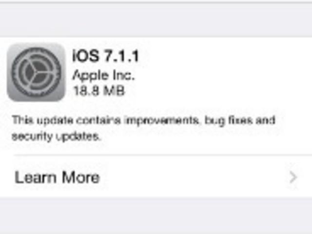 アップル、「iOS 7.1.1」をリリース--「Touch ID」認識性などの問題に対応