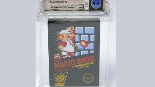 Un cartucho del videojuego Super Mario Bros. se vende por US$100,150
