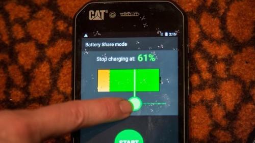 El Cat S41 puede cargar un teléfono moribundo
