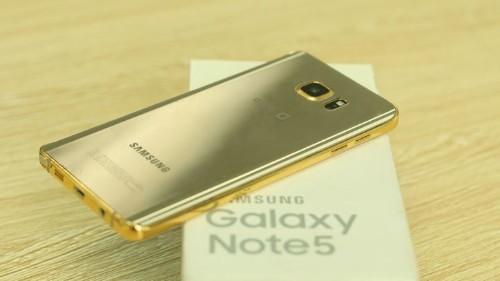 El Samsung Galaxy Note 5 de oro de 24 quilates te dejará con la boca abierta