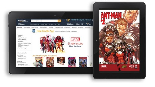 Amazon y Marvel llevan 12,000 cómics a las Kindle