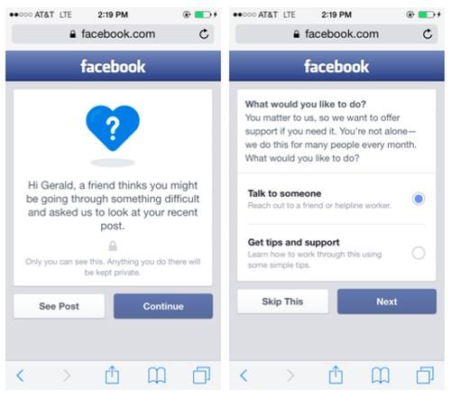 Facebook incluirá más opciones para reportar posibles suicidios