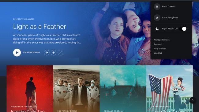 Hulu、ナイトモードの提供を開始--目に優しく、映画館の雰囲気を演出 - CNET Japan