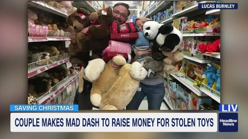 A thief stole gifts meant for thousands of kids. Then this couple raised $45,000 to save Christmas