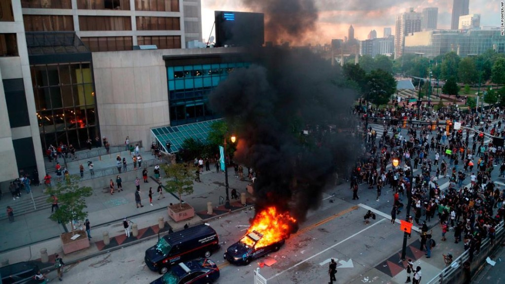 CNN Center in Atlanta damaged during protests