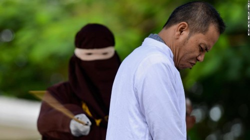 Man who advocated caning for adultery gets caned for adultery