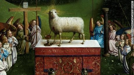 This newly restored 15th-century lamb is worrying art lovers