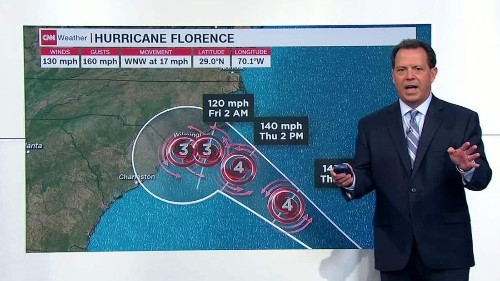 Hurricane Florence marches toward the Carolinas as residents flee