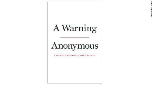 Anonymous Trump official who wrote New York Times op-ed has a book coming out