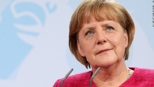 Angela Merkel stands in 'solidarity' with congresswomen attacked by Trump