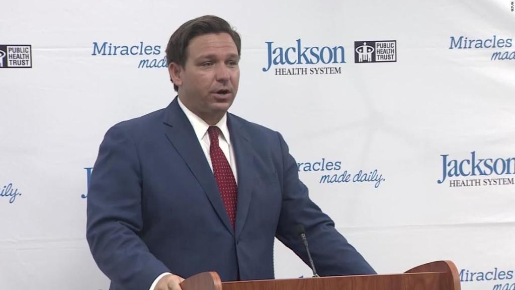 Heckler publicly shames Florida Gov. Ron DeSantis at Covid-19 press conference - CNN Video